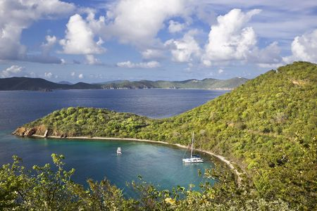 High view point of an island in the British Virgin Islands. Stock Photo - 6027935