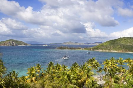 Beautiful coastline of the British Virgin Islands. photo