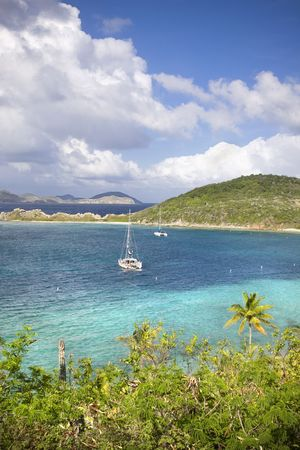 High view point of an island in the British Virgin Islands. photo