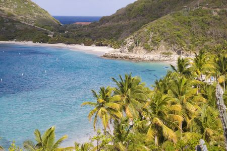 Beautiful coastline of the British Virgin Islands. Stock Photo - 6027953