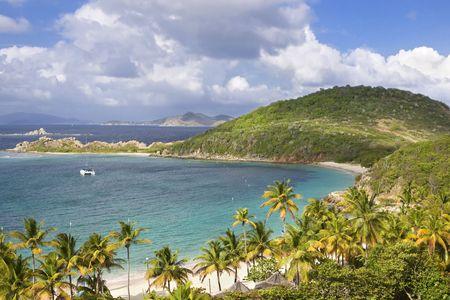 Beautiful tropical coastline of the British Virgin Islands. photo