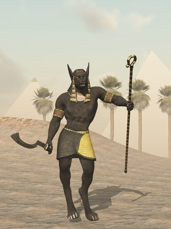 Anubis Egyptian god of the dead photo