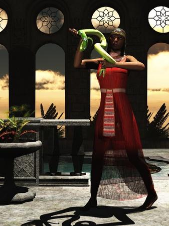 asp: Cleopatra holding the asp