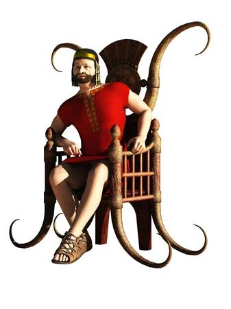 trono: Concebido como el rey Herodes, pero lo suficientemente generales como para servir como Darío, Xerxces, David o cualquier figura de fantasía potentado