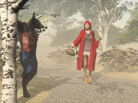 caperucita roja: Caperucita Roja y el lobo feroz