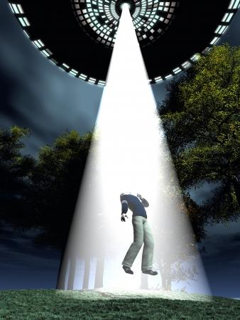 disco volante: Disco volante utilizza raggio traente per rapire soggetto