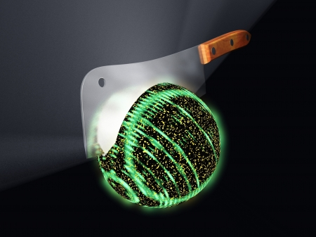 bombe atomique: Rendus interprétation de la fission nucléaire impliquant la scission de l'atome d'uranium