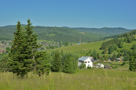 rural lodge in Altai Mountains