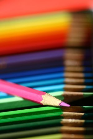 Color pencils in a row. Stock Photo - 703297
