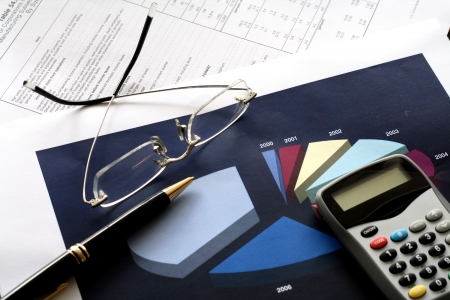 fin d annee: Diff�rents outils financiers. Concept: la fin de l'exercice financier.