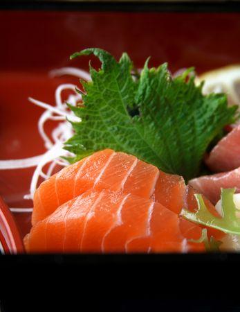 Japanese raw fish - Sushi. photo