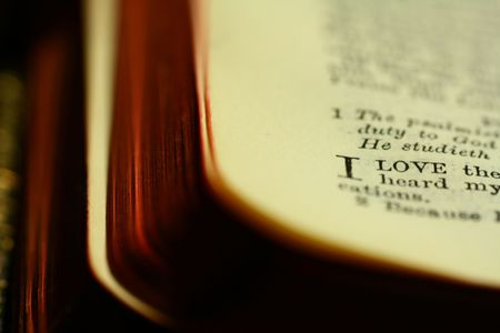 Closeup of a section of a bible. Low key shot with dramatic effects. Stock Photo - 703246