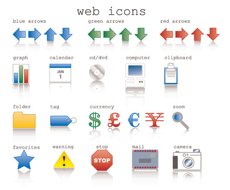 Vaus web icons in vector format with internet theme. Stock Vector - 701510