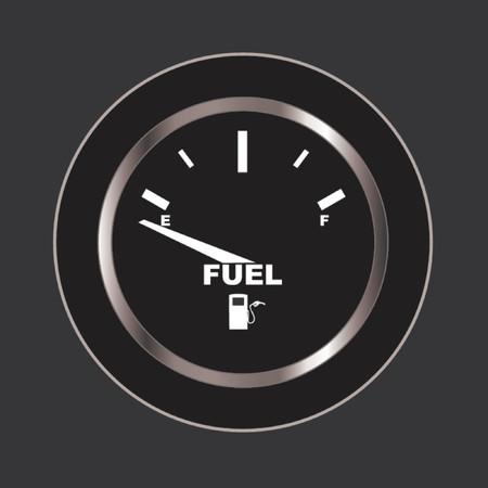 autos: Vector image of a fuel gauge, shows empty.