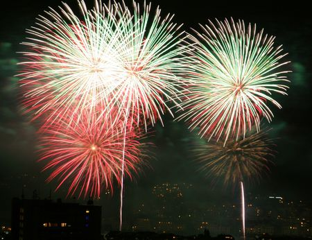 Colorful fireworks display. photo