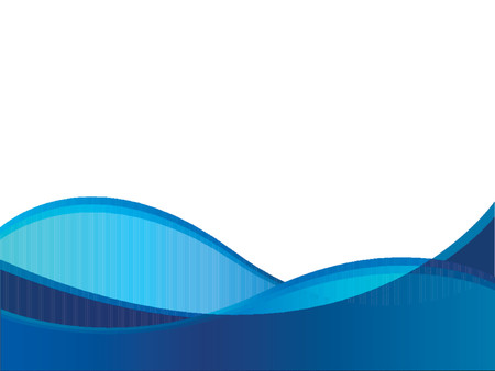 soothing: Blue wave vector against a white background.