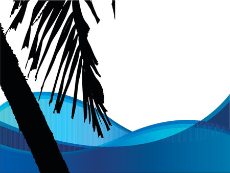 Vector silhouette of a palm tree. Vector