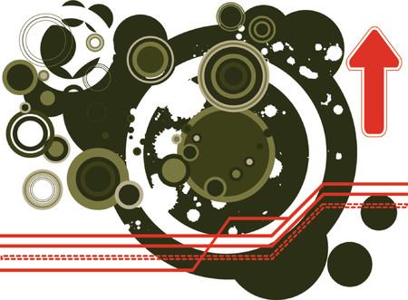 Retro vector rings with vaus harmonious color combination. Stock Vector - 937407