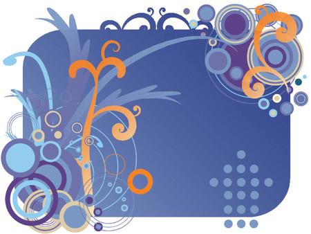 swoop: Floral vector con curvas de turbulencia y la vid.