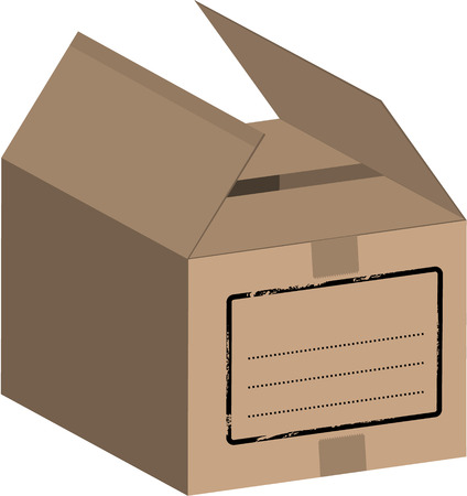 sender: Vector - Big box  carton on a white background (isolated).