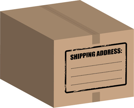 forwarding: Vector - Big box  carton on a white background (isolated).