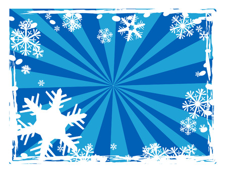 Snowflake vector with star burst background. Copy space. Vector