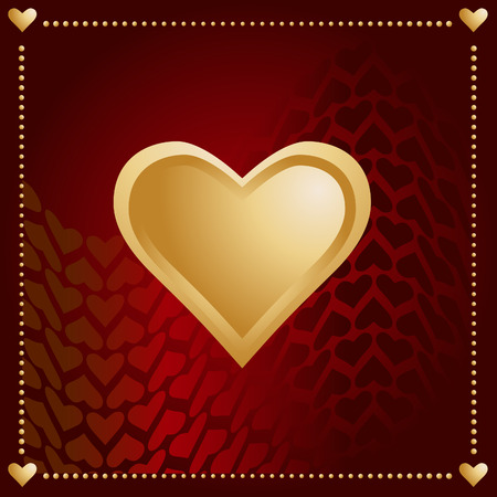 Vector - Valentines day card with hearts in a wavy background. Vector