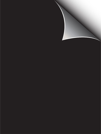 Vector - Black paper with realistic page curl. Copy space for image or text. Vector