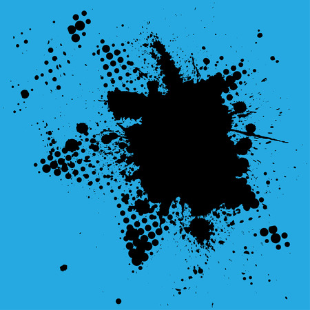 Vector - Halftone ink splat grunge background for text. Vector