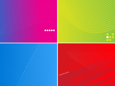 Vector - Dynamic high tech retro wave for background use in 4 difference colors. Vector