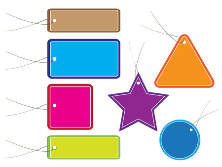 Vector - Glossy colorful sale tag for discount or promotion of your shop items. Vector