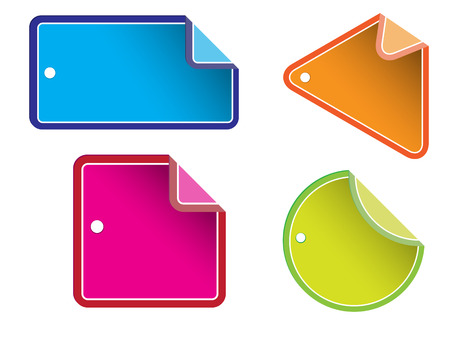 Vector - Glossy colorful sale tag for discount or promotion of your shop items. Stock Vector - 2640042