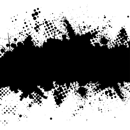 blob: Vector - Halftone ink splat grunge background for text.