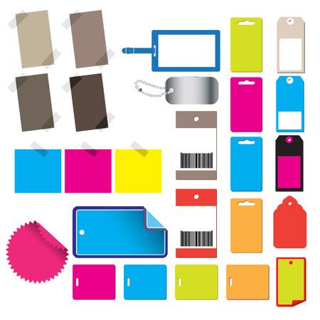Vector - Alot of glossy and colorful sale tag stickers. Vector