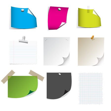 Vector - Big collection of paper message set with drop shadow and very detailed. Vector