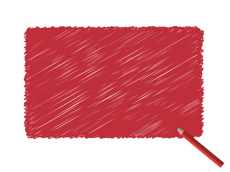 Vector - Grunge scribble of a color pencil for text background. Vector