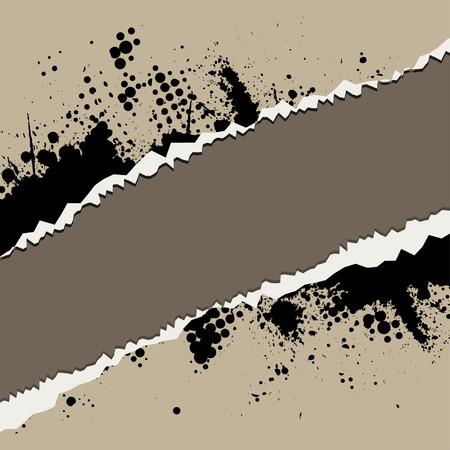ink splat: Vector - timen desgarrado papel con tinta retro s�mbolo.