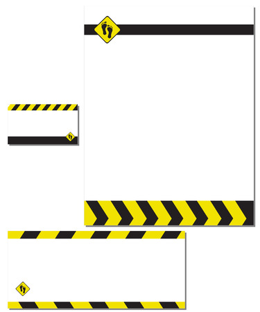 Vector - Blank business stationery paper, envelope and calling cards. Vector