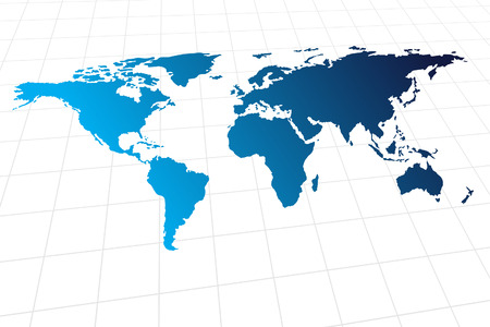 Vector - Modern global world map with metallic wave Vector