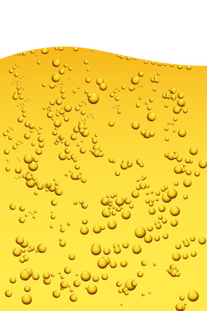 Vector - Cool fresh looking beer with bubbles. Illustration