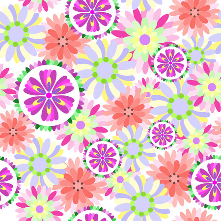 Vector - Seamless floral flower pattern. Can be tiled together seamlessly. Vector