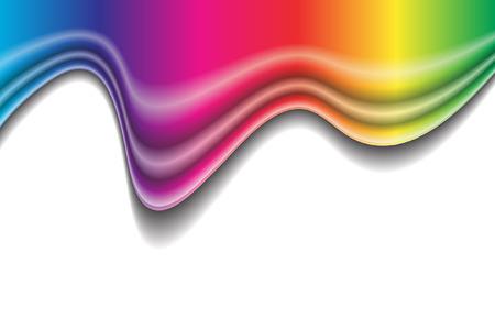 Vector - Rainbow liquid forming a wave. No gradient mesh used. Vector