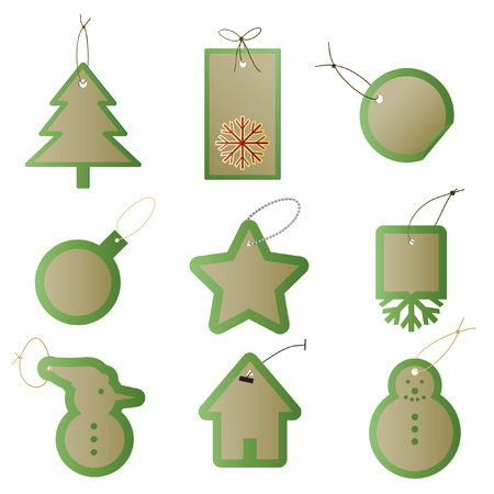 Vector - Christmas gift tags or labels for presents. Vector