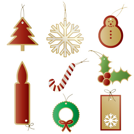 Vector - Christmas gift tags or labels for presents. Stock Vector - 3678974