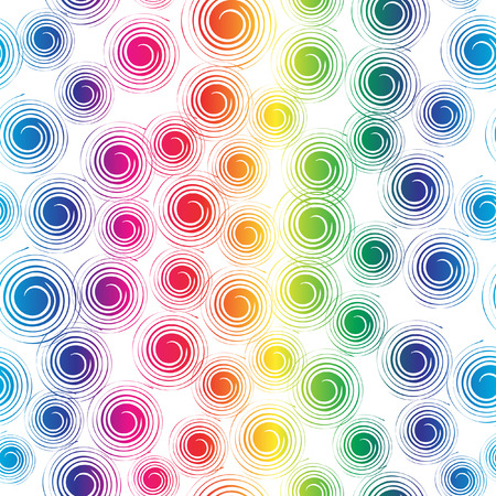 canvas print: Vector - Colorful retro seamless circles, can be tiled together. Illustration