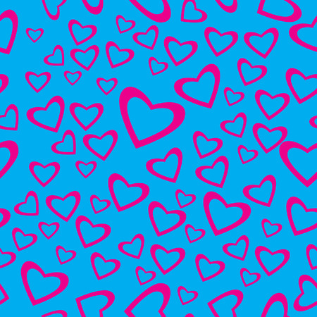 Vector - Heart shaped seamless pattern for valentines day Vector
