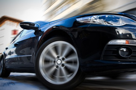 Fast moving car with motion blur Stock Photo - 4169244