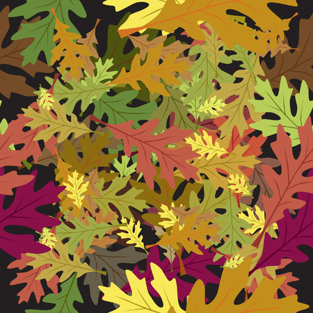 Vector - Seamless foliage fallen leaves with autumn color