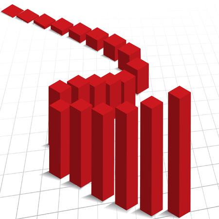 good break: Vector - Gr�fico gr�fico muestra incremento en las ganancias. �tiles para los informes de negocio. Vectores