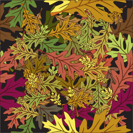 Vector - Seamless foliage fallen leaves with autumn color Vector